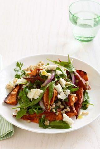 roasted sweet potato recipes salad