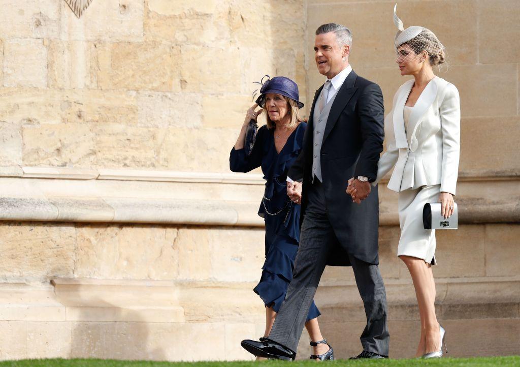 Robbie Williams and Ayda Field at Princess Eugenie's wedding
