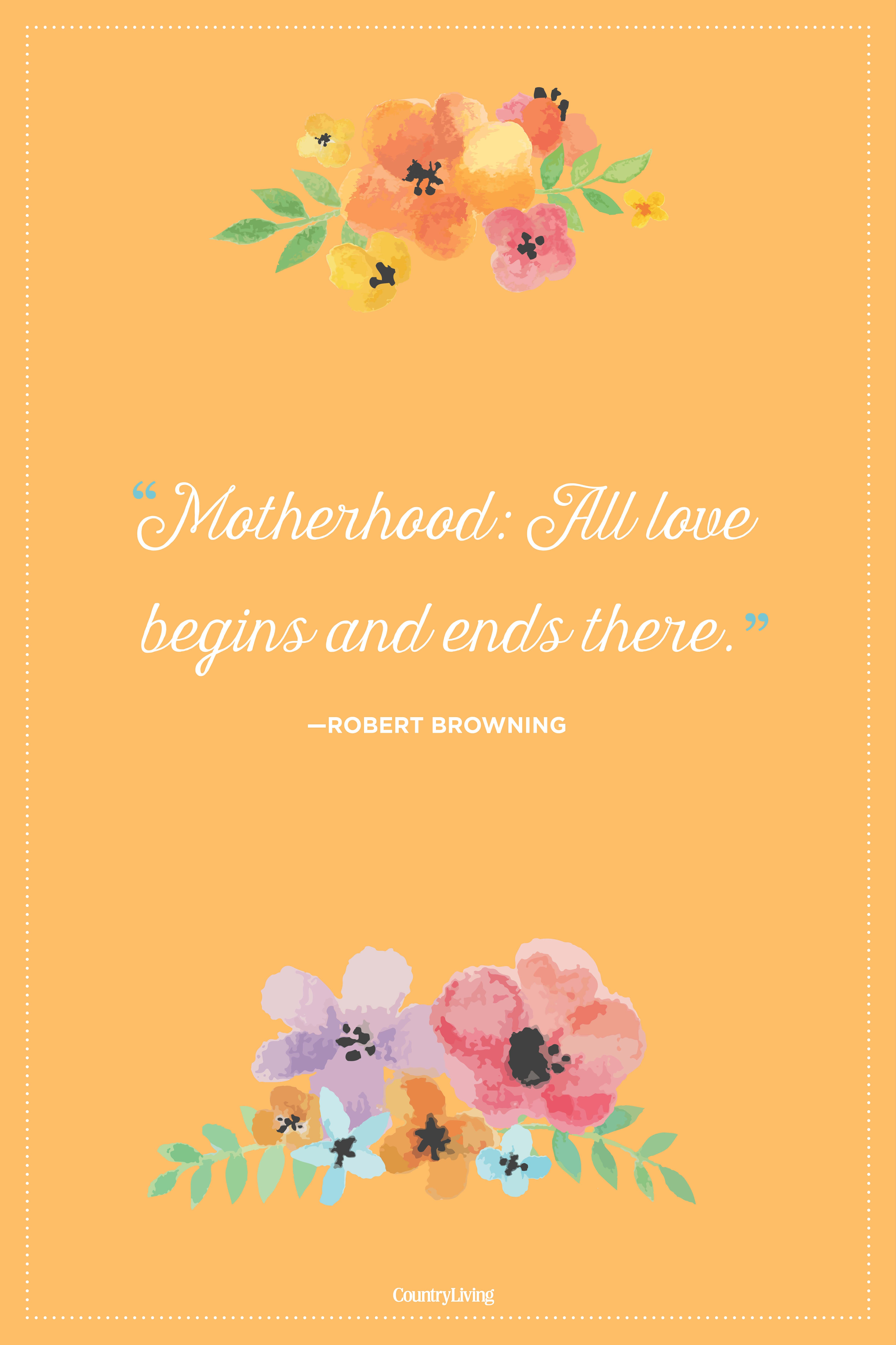 robert browning mothers day quote