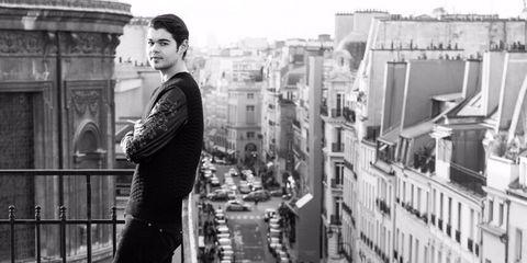 Photograph, Standing, Metropolis, Black-and-white, Snapshot, Urban area, Human settlement, City, Photography, Monochrome,