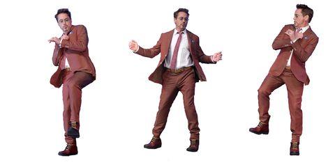 Robert Downey Jr Vengadores Endgame baile