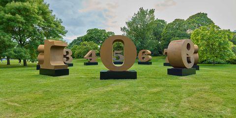 Robert Indiana, ONE through ZERO, 1980-2002, Waddington Custot , Frieze Sculpture 2019