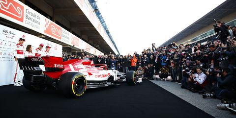 f1 winter testing in barcelona   day one