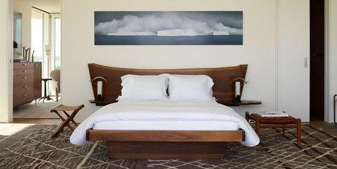 Bedroom, Furniture, Room, Bed, Interior design, Bed frame, Bed sheet, Property, Wall, Floor,