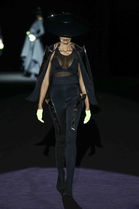 Fashion, Fashion show, Runway, Fashion design, Outerwear, Action figure, Haute couture, Event, Model, Performance,