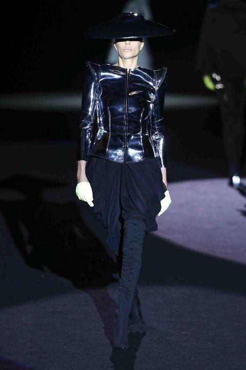 Fashion, Runway, Fashion show, Fashion model, Fashion design, Public event, Leather, Performance, Haute couture, Event,