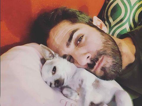 Roberto Leal con su perro