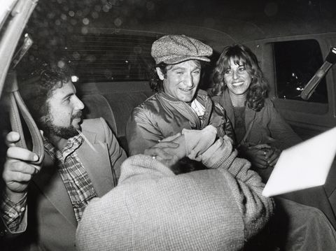 robin williams, his first wife valerie williams and a friend after recording a saturday night live show in new york