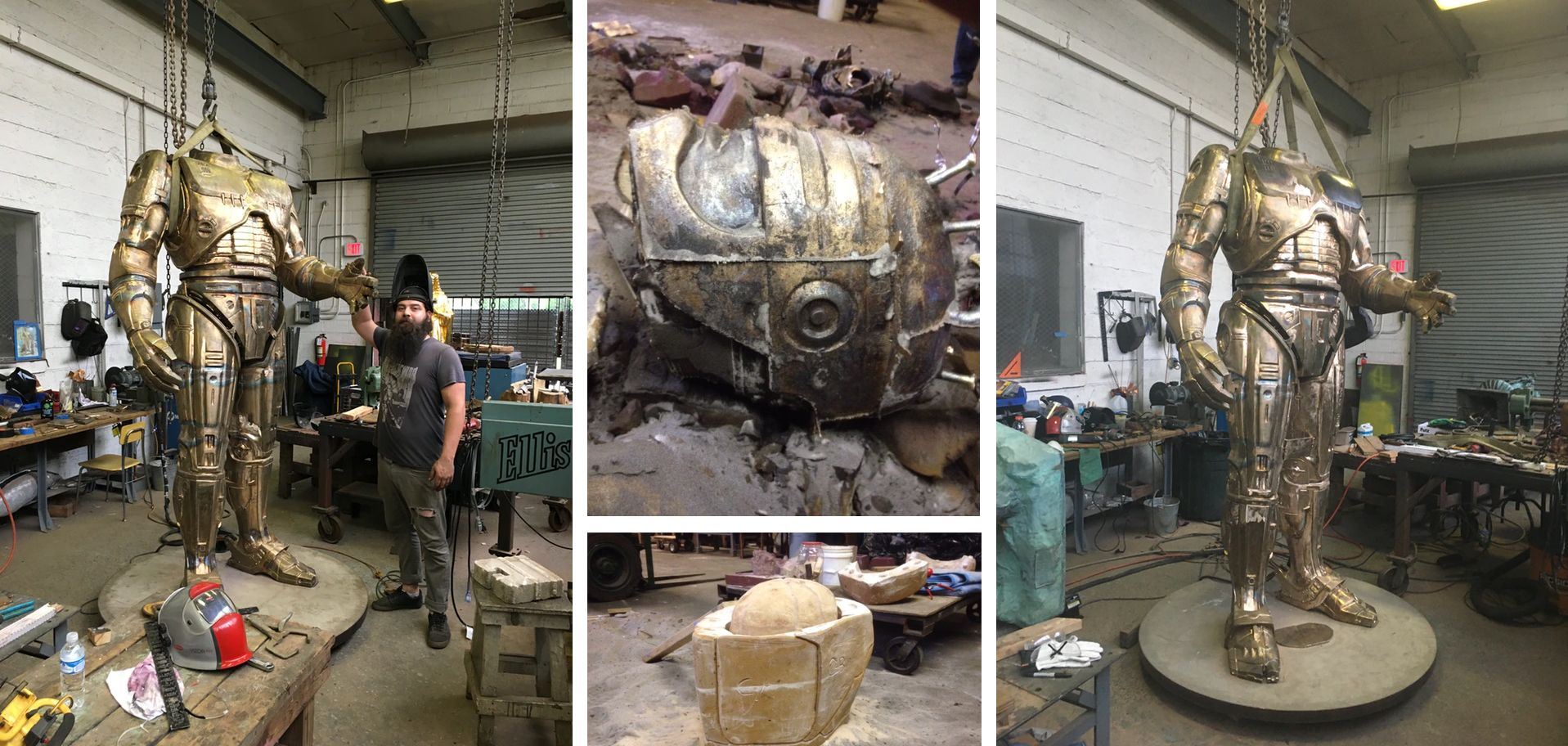 Detroit's Glorious Robocop Statue, Nearly a Decade in the Making, Is Almost Done