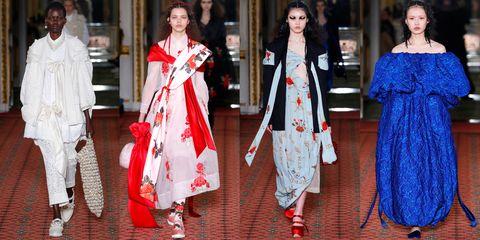 Clothing, White, Street fashion, Fashion, Red, Dress, Outerwear, Fashion model, Fashion design, Textile,