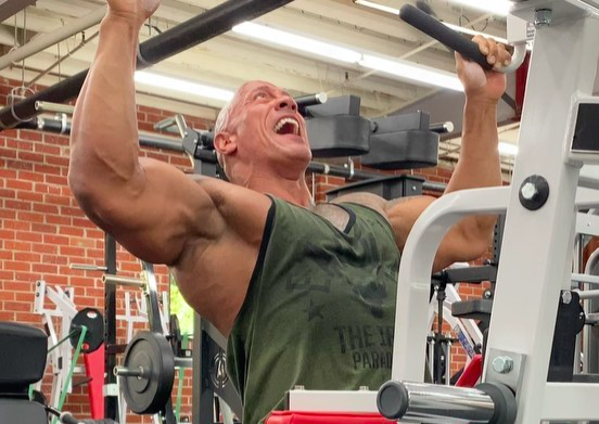 Watch The Rock Complete a Vicious Set of Lat Pulldowns in His Home Gym thumbnail