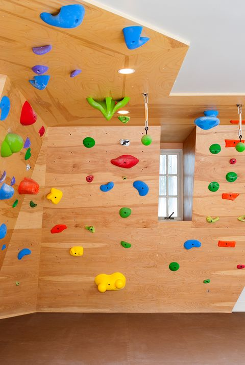 home gym ideas rock climbing wall