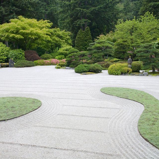rock garden, japanese garden, oregon, usa