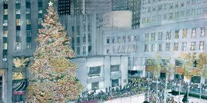 Rockefeller Center at Christmas Time by Franklin McMahon