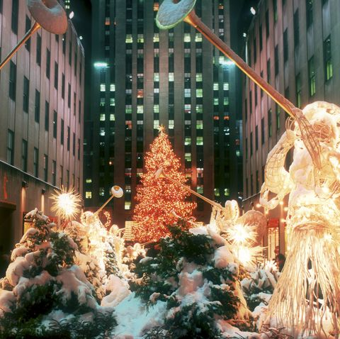 NY, Rockefeller Center Christmas angels