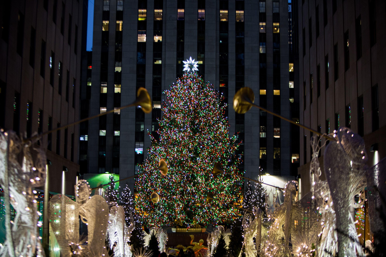 Christmas Tree In Nyc.Rockefeller Christmas Tree Lighting Nyc Rockefeller