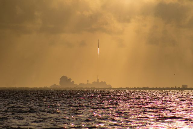rocket lifting off