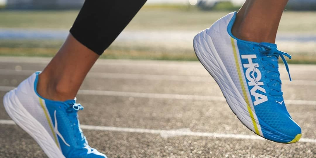 The Hoka One One Rocket X is a fast shoe that feels reassuringly stable