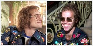 taron egerton elton john rocketman cast comparison real life side by side