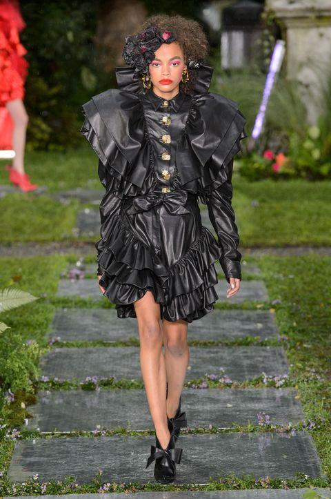 Clothing, Fashion, Fashion model, Dress, Street fashion, Outerwear, Footwear, Textile, Jacket, Haute couture,