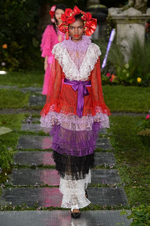 Pink, Clothing, Purple, Fashion, Magenta, Costume, Dress, Headgear, Textile, Tradition,