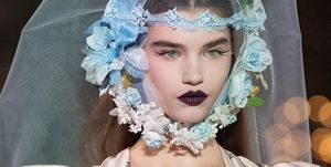 Rodarte toont vampire beautylooks voor Herfst/Winter 2020 tijdens New York Fashion Week.