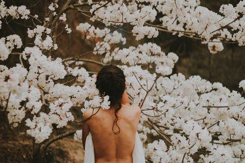 woman blossom