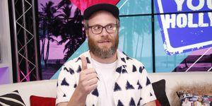 Seth Rogen Visits Young Hollywood Studio