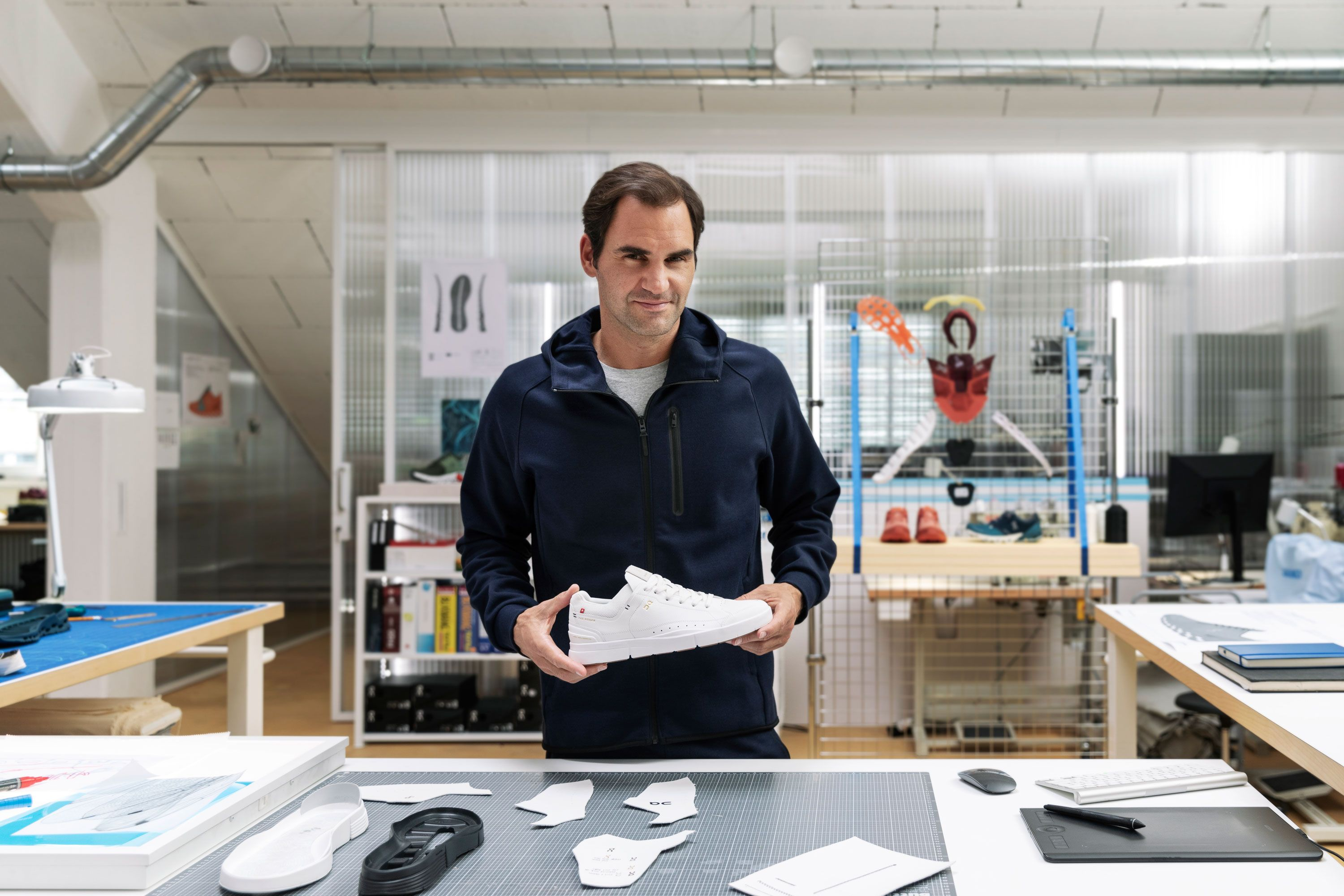 On and Roger Federer Just Gave the Classic Tennis Shoe a Low-Key Futuristic Overhaul