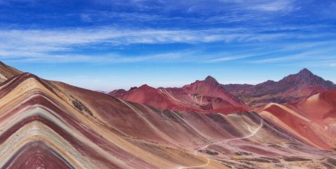 Mountainous landforms, Sky, Nature, Mountain, Badlands, Natural landscape, Wilderness, Geology, Mountain range, Landscape,