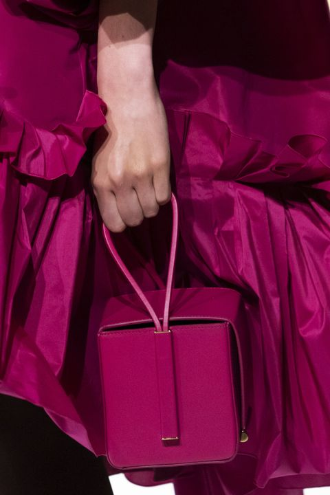 Magenta, Pink, Red, Violet, Purple, Bag, Handbag, Hand, Satin, Outerwear,