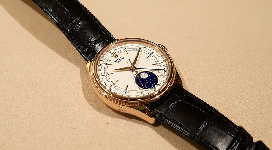 Up Close the Rolex Cellini Moonphase