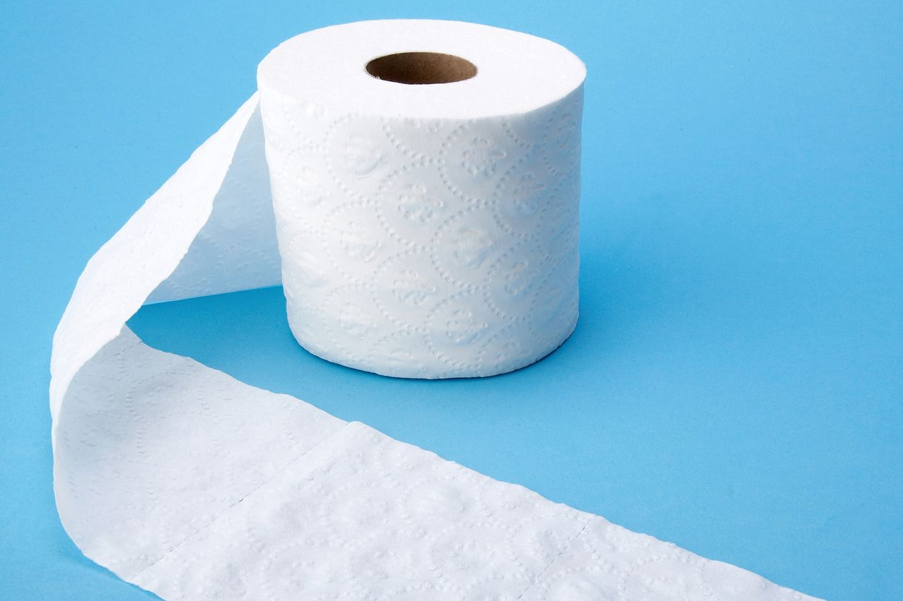 Roll of bathroom tissue unraveling