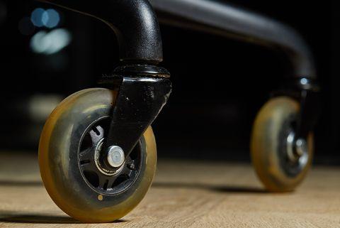rollerblade wheels on chair