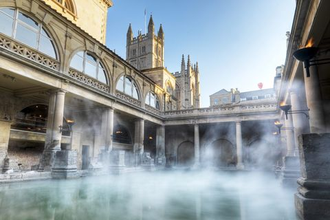 roman baths, bath, england, ancient