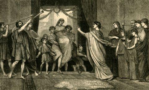 a roman wedding   the brides home coming