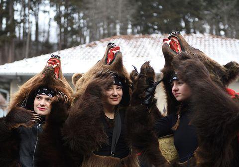 Fun, Fur, Crowd, Winter, Fictional character,