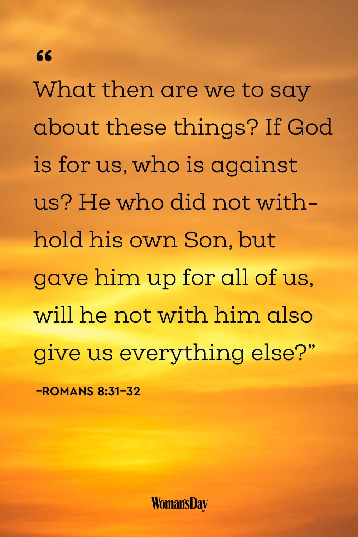 Encouraging Bible Verses - Romans 8:31–32