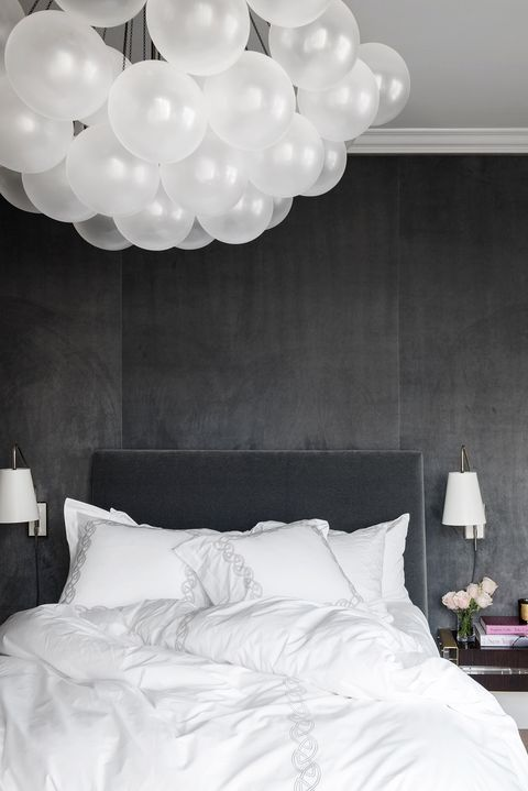 White, Bedroom, Room, Bed, Wall, Furniture, Bed frame, Bed sheet, Ceiling, Lighting,