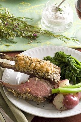 romantic dinner ideas - mustard crusted lamb