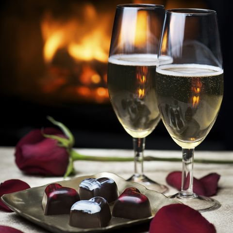 Romantic Evening by the Fire