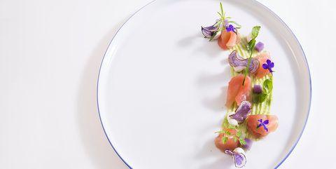 Dishware, Plate, Porcelain, Saucer, Tableware, Platter, Violet, Teacup, Serveware, Plant,