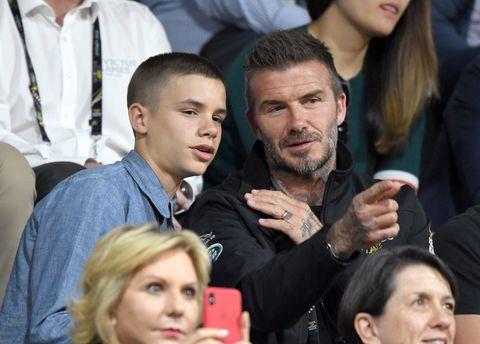 David Beckham kids running