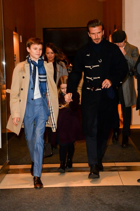 romeo and david beckham in february 2017