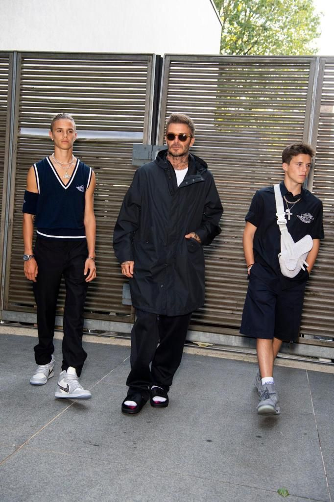 The Beckhams Were The World's Best-Dressed Boyband At Victoria's LFW Show