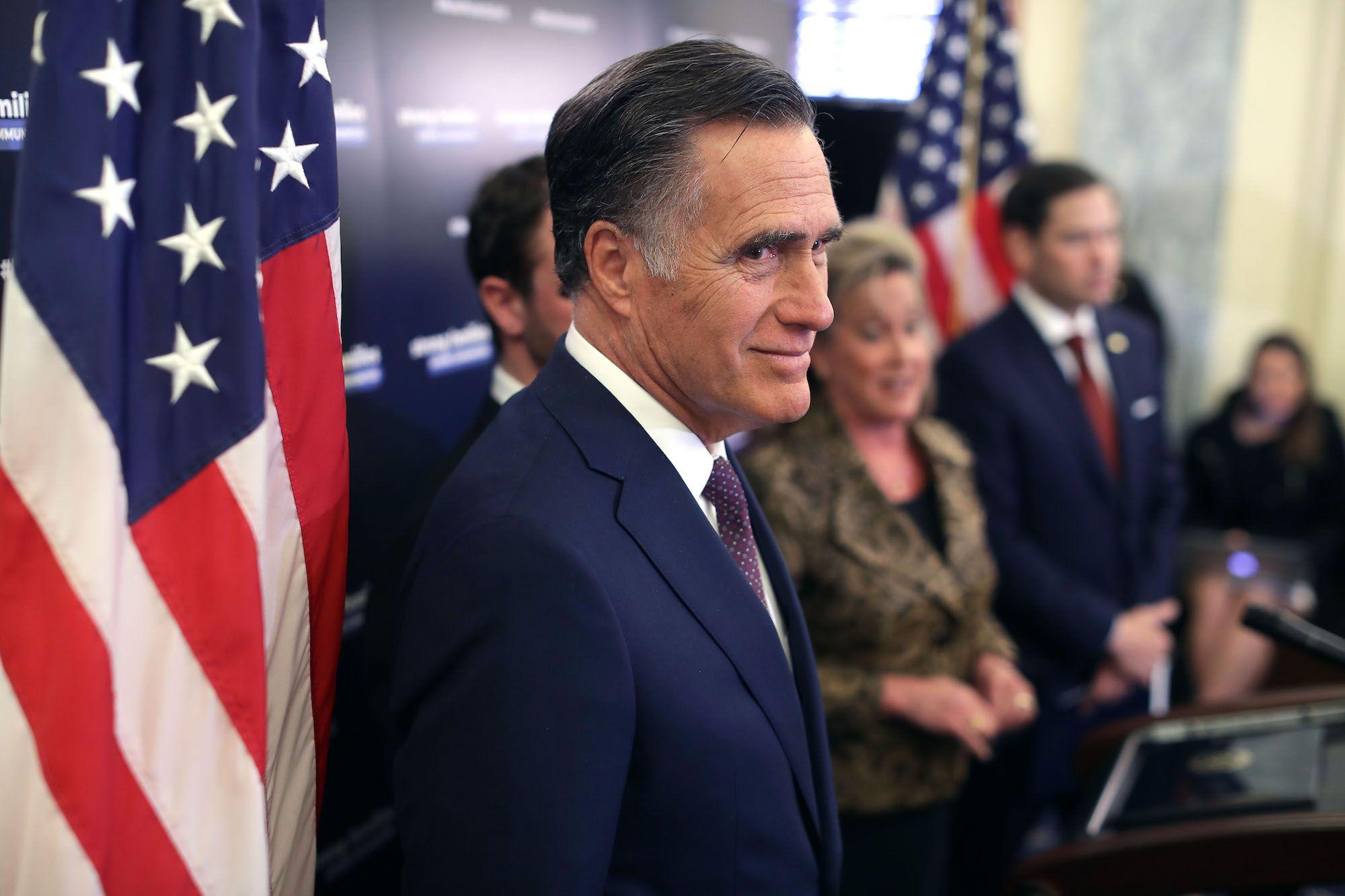 Romney puts on a brave face.