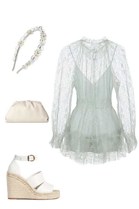 White, Clothing, Dress, Sleeve, Outerwear, Lace, Blouse,