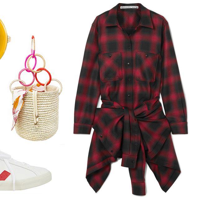 Clothing, Plaid, Outerwear, Red, Tartan, Pattern, Coat, Jacket, Design, Footwear,