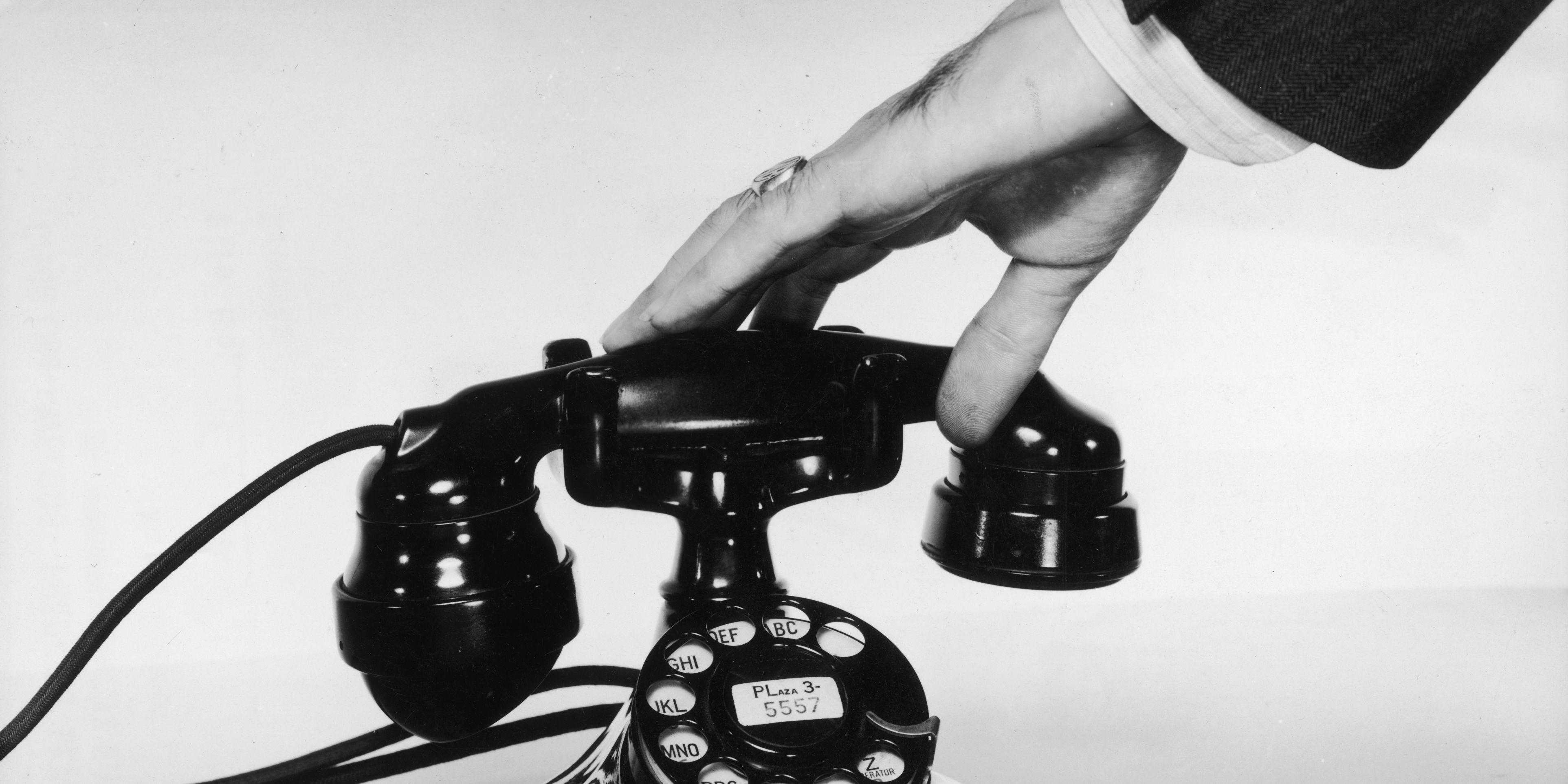 Analoge telefoon, offline gaan