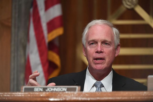 us senator ron johnson r wi questions department of homeland security acting secretary, chad wolf, during testimony before the senate homeland security and governmental affairs committee on august 6, 2020 in washington, dc, to answer questions about the use of federal agents during protests in portland, oregon photo by toni l sandys  pool  afp photo by toni l sandyspoolafp via getty images
